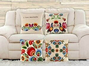 4 Pack Decorative Throw Pillow Cover 18x18Home Decor Outdoor Insert Not Include