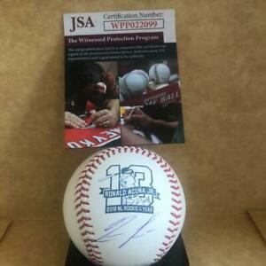 RONALD ACUNA BRAVES SIGNED AUTO 2018 NL ROY BASEBALL SIGNED UNDER LOGO JSA $229.98