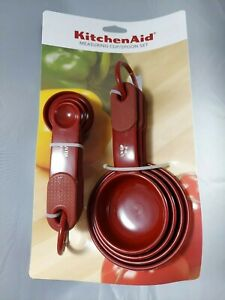 KitchenAid Empire Red Measuring Cup and Spoon Set - 9 Piece - Brand New NWT