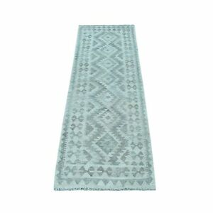 2#x27;x6#x27;4quot; Undyed Natural Wool Afghan Kilim Reversible Hand Woven Runner Rug R53047 $99.00