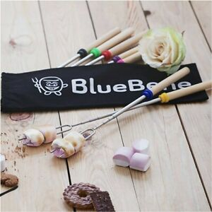 8pcs 32 inch Roasting Sticks Marshmallow BBQ sticks Extendable Telescoping Fork