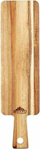 Small Wood Cutting Board Cheese Food Serving 17.7 x 4.7 inch Platter Acacia