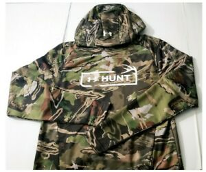 Under Armour Mens Hunt Tech Terry Forest Camo Hunting Hoodie Size Small $65 MSRP $47.99