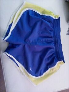 Womens Nike running shorts small blue and yellow awesome condition $15.00