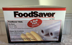 Food Saver 6 Roll Pack Two 8 Inch Rolls And Four 11 Inch Rolls Vacuum Packaging