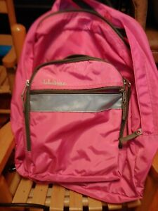 LL Bean Pink Backpack Book Pack Never Used