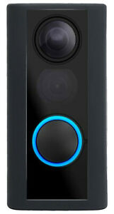 Silicone Skin Case Cover for Ring Door View Peephole Cam Black
