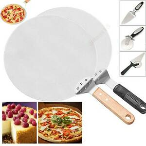 Stainless Steel Cake Pizza Peel Shovel Spatula Cutter Shovel Knife Baking Tray `