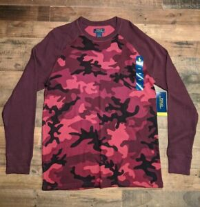 Mens Polo Ralph Lauren Thermal Red Camo Sz Large L New with Tags NWT $17.00