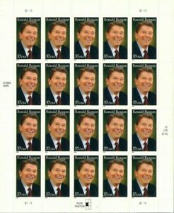 Ronald Reagan President Sheet of Twenty 37 Cent Postage Stamp Scott 3897
