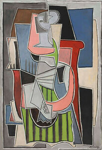 Woman Sitting in an Armchair 1920 Signed Picasso 17quot;x22quot; Fine Art Print 00838 $79.99