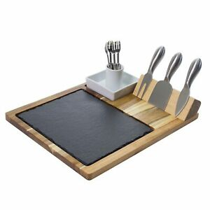 Zelancio 10 Piece Charcuterie Cheese Board Set with Acacia Wood Serving Tray