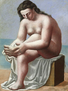 Seated Nude Drying Her Feet 1921 Signed Picasso 17quot; x 22quot; Fine Art Print 00851 $79.99