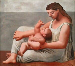 Woman with Child on Seashore 1921 Signed Picasso 17quot;x22quot; Fine Art Print 00864 $79.99
