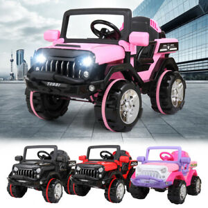 12V Kids Ride on Truck Car Battery Powered Electric Car 3 Speed W Remote Control