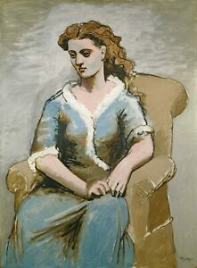 Woman Seated in an Armchair 1923 Signed Picasso 17quot;x22quot; Fine Art Print 00889 $79.99