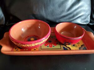 Home Studio Baja Collection Serving Set Tray Bowls
