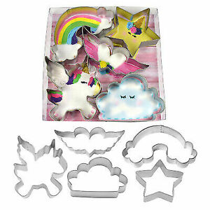 Unicorn Clouds Rainbow and Star Cookie Cutter Set 2010