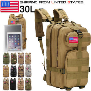30L Military Camping Backpack Tactical Camping Hiking Travel Bag Outdoor