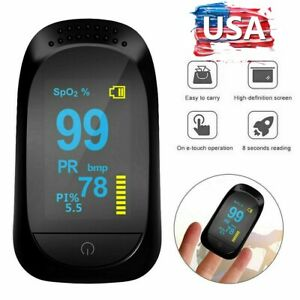 O2 Patient Monitor Finger Pulse Oximeter Blood Oxygen Saturation SPO2 Heart Rate $13.66