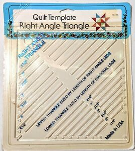 Quilt Template Right Angle Triangle 7 Sizes Quilting Tool $9.90