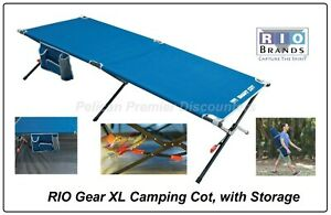RIO Gear XL Camping Cot Comfortable Camping Cots with Storage
