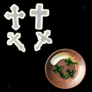 4 Pieces Cross Shape Silicone Pendant DIY Molds for Resin Casting Epoxy Handmade