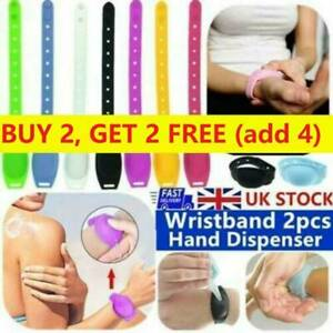 1 2 4X Portable Silicone Soap Bracelet Wristband Hand Dispensers Squeeze Bottles $5.61