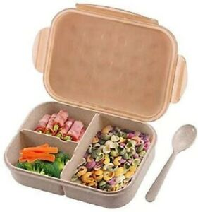 Bento Box Kids Leakproof BPA Free 3 Compartment Lunch Containers
