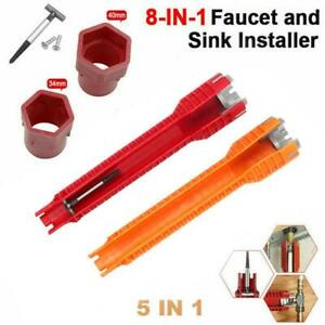 Multifunction Sink Basin Faucet Wrench Sink Install Taps Spanner Installer Tools $9.89