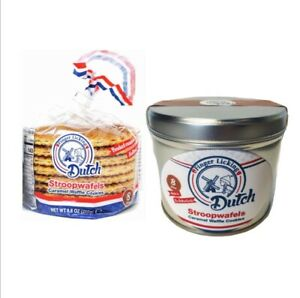 Finger Licking Dutch Authentic Caramel Stroopwafels Made in Holland 8 Wafels $10.99