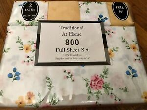 Traditional At Home 800 Full sheet set cotton blend