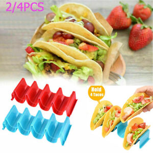 2 4 Pcs Wave Shape Taco Holder Rack Mexican Food Hard Stand Kitchen Baking Tool