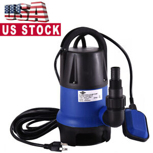 2000 GPH Submersible Clean Dirty Water Pump 1 2HP Swimming Pool Pond Flood Drain