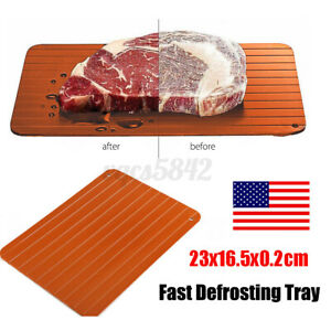 Fast Defrosting Tray Rapid Thawing Board Safe Defrost Meat Frozen Food Plate NEW