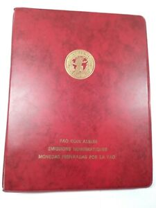 United Nations FAO Coin Album 1968 Coin Issues from 11 Countries Grow Food $115.00