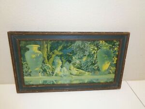 Antique Framed Maxfield Parrish Print The Garden Of Allah $127.49