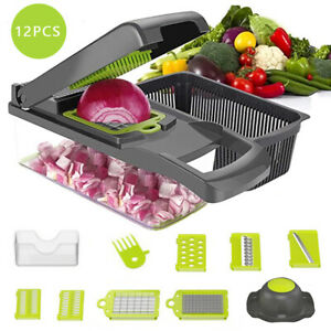 12 in 1 Vegetable amp; Small Food Chopper Onion Garlic Fruit amp; Cheese Manual Cutter