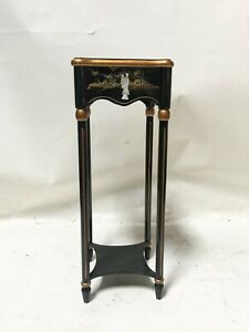 Oriental furniture black lacquer flower stand gifts