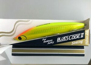 Maria Blues Code II Saltwater Lure JDM 110mm 24gm CHARTREUSE GOLD Ships from TX