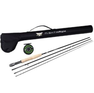 Fenwick Pfleuger Nighthawk 5WT Conplete Fly Fishing Rod Reel Combo w Hard Case