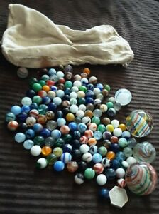 VTG ANTIQUE MARBLE LOT Some HAND BLOWN As Is C $100.00