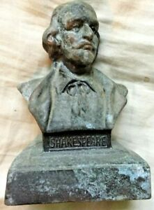 SHAKESPEARE Vintage Antique Bust 5 inches high $47.00