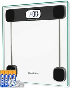 Beautural Precision Digital Body Weight Bathroom Scale with Lighted Display NEW $32.99