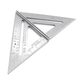 JW HB 7inch Aluminum Alloy Measuring Right Angle Triangle Ruler Woodworking $6.13