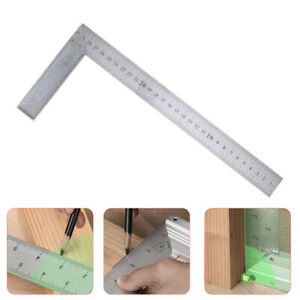 90 Right Angle Try Square Metal Ruler 300mm For Woodworking Carpenter Wood Tool $4.99