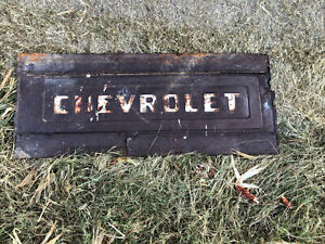 Vintage Chevrolet Tailgate Panel Wall Art Man Cave Edition