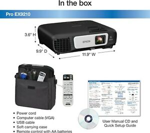 EPSON PRO EX9210 1080P WUXGA 3LCD WIRELESS BUSINESS PROJECTOR HDMI MHL 3400 $689.95