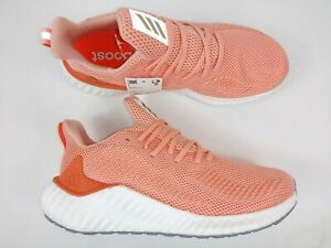 Adidas Womens Alphaboost F33947 Pink White Running Shoes Sneakers $84.99