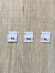 Lot 2400 Woven Sewing Clothing Size Labels for Handmade Sewing Petite S M L $8.98